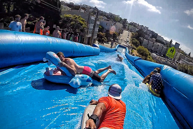 Massive-Slip-N-Slide-Down-A-San-Francisco-Street-