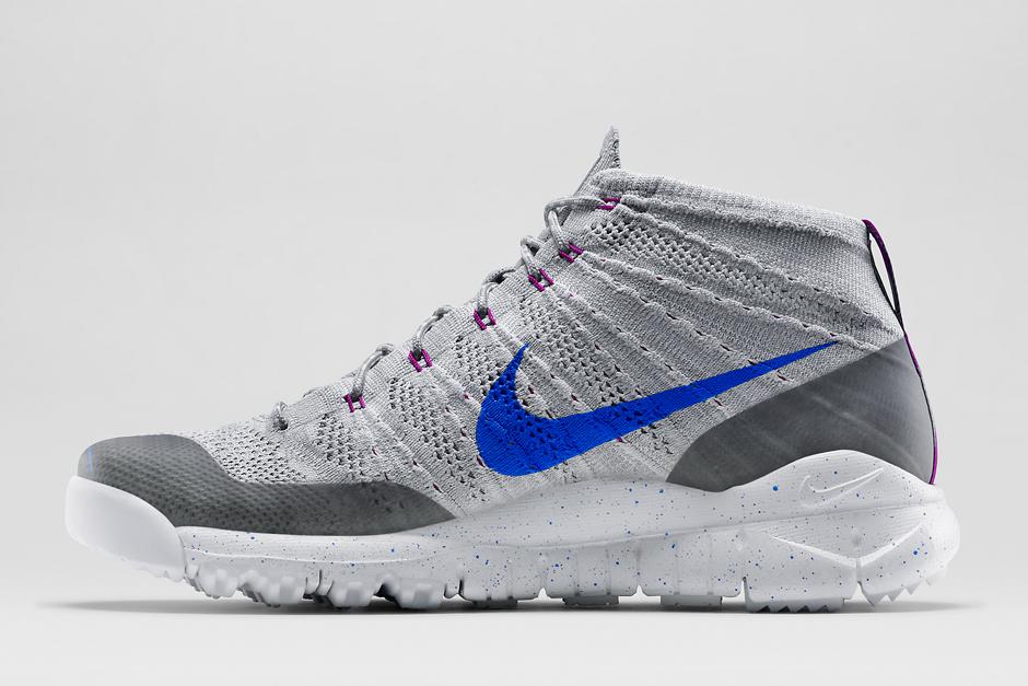 """size 40 5ce44 7f236 Footwear  Nike Flyknit Trainer Chukka FSB """"Wolf Grey White Fuchsia  Flash Lyon Blue"""""""