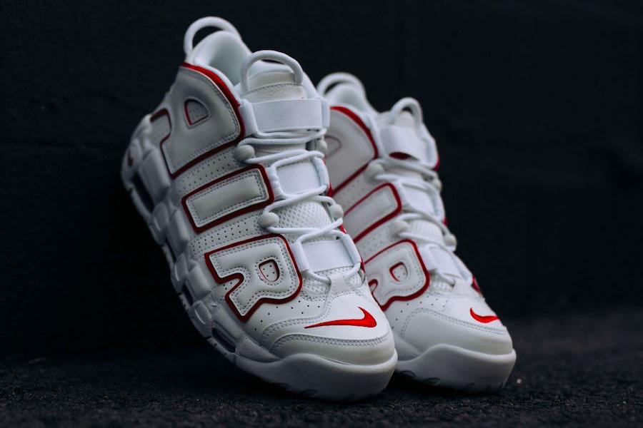 "sale retailer 7cbe2 2a228 Footwear Nike Air More Uptempo Is Dressed In ""WhiteVarsity Red"" Colorway"